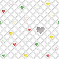 Liebesherz nahtlose Muster Valentinstag Urlaub geometrische Verzierung