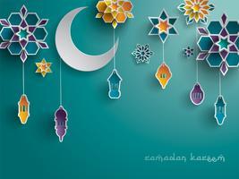 Papper grafisk av islamisk dekoration vektor