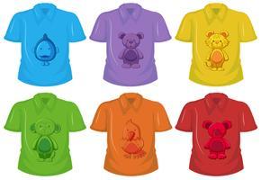 Set aus verschiedenen T-Shirt vektor