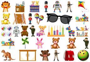 Set von Spielzeug für Kinder vektor