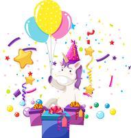 Ein Einhorn feiert Geburtstag vektor