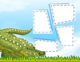 Krokodil auf Hinweis Vorlage vektor