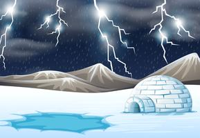 Regnig natt på vintern vektor