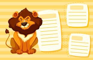 Löwe auf Notizvorlage