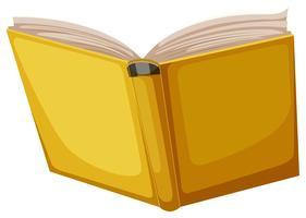 Gelbes Buch auf weißem Hintergrund vektor