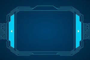 Blauer Schaltkreistechnologie-Interface Hud