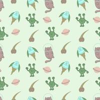 Nahtloses Muster des netten Katzenastronauten