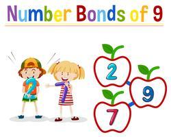 Anzahl Anleihen von neun vektor