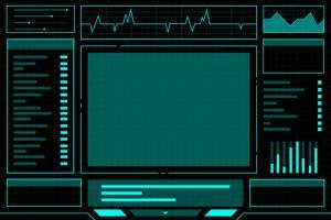 Blauer abstrakter Technologie-Schnittstellenhud