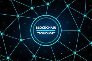 Blockchain abstrakte Technologie vektor