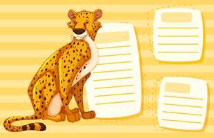 Ein Gepard auf leere Notiz vektor