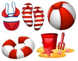 Strandausrüstung für Spaß