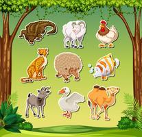 Satz von tierischen Aufkleber