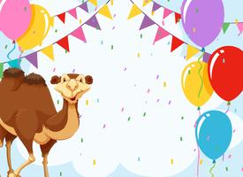 Kamel auf eine Party einladen vektor