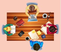 Gruppprojekt på skrivbordet