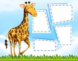 En giraff på blank sedelmall