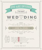 Vintage Hochzeit Einladungskarte Vorlage