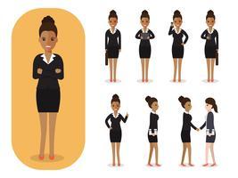 Sats av affärskvinna på jobbet.