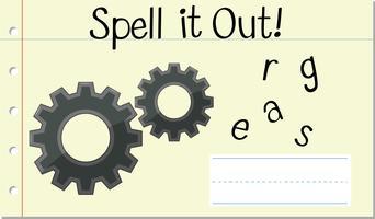 Sprich englische Wortgänge vektor