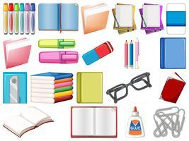 Schreibwaren und Bücher vektor