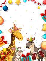 Tier auf Partyrahmen vektor
