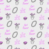 Flicka makt sömlös mönster