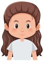 En brunett tjej karaktär vektor