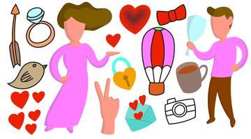 Glad valentinsdag illustration