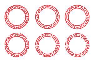 Chinesisches rotes Kreisbühnenbild vektor