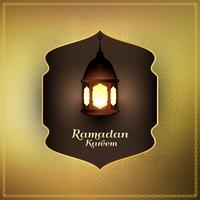 Abstrakt Ramadan Kareem islamisk bakgrund vektor