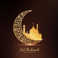 Abstrakter Eid Mubarak-Hintergrund vektor