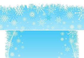 Schneeflocke Vektor Hintergrund Pack
