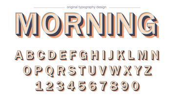 Mutiger Schlagschatten-Typografieentwurf vektor