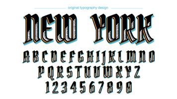 Kundenspezifischer Vintager Typografieentwurf vektor