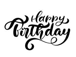 Vector handgeschriebene moderne Bürstenbeschriftung der Illustration von alles- Gute zum Geburtstagtext auf weißem Hintergrund. Handgezeichnete Typografie-Design. Grußkarte