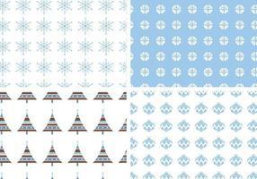 sömlös semester vektor mönster pack