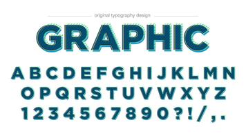 Moderner grüner Typografieentwurf vektor