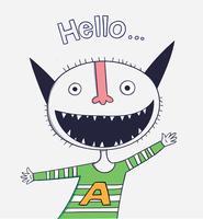 Tecknade djur den söta monster vektor karaktärsdesign