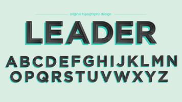 Eleganter schwarzer Schrägflächen-Typografieentwurf vektor