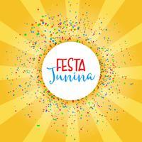 Festa Junina fest bakgrund vektor