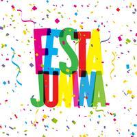 Festa Junina Konfetti Hintergrund vektor