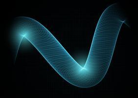 Abstrakter Technologiehintergrund mit flüssigem Gitter vektor