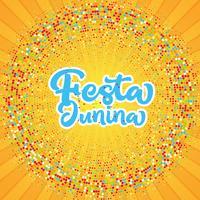 Festa Junina starburst bakgrund vektor