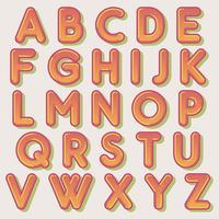 Mutiger runder orange Typografieentwurf vektor