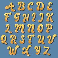 Gelbes handgeschriebenes Typografie-Design vektor