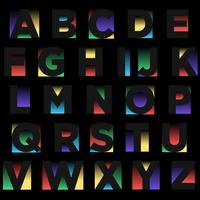 Abstrakt negativ rymd typografi design vektor