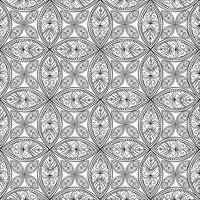 Nahtlose Blümchenmuster Lineare Verzierung. Abstrakter Hintergrund vektor