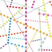 Abstrakt geometrisk prick sömlöst mönster. Bubbelmolekylbakgrund vektor