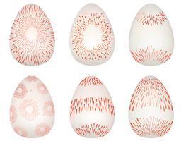 Ostereier Zeichen gesetzt. Ostern-Symbol für Feiertagsgrußkartendekor.