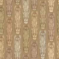 Etnisk sömlös mönster, stamstil. Afrikansk mask kaklade bakgrund.